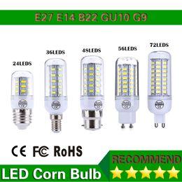 Led Lamps 220V 110V SMD5730 Led Corn Bulb Lampada Led GU10 E27 G9 B22,24LED 36LED 48LED 56LED 70LED 5730 Light,1pcs lot,led lighting