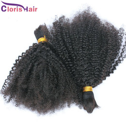 Soft Malaysian Kinky Curly Hair Human Hair Bulk Afro Kinky Curly Bulk Human Hair Extensions For Cheap No Attachment