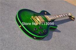 Wholesale Factory Custom guitarra LP CUSTOM ELECTRIC GUITAR green colors GUITAR IN CHINA