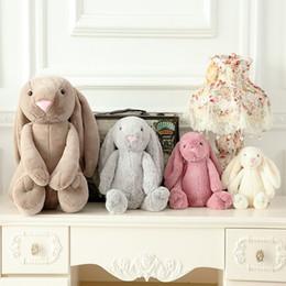 2017 muñecas de la muchacha De Buena Calidad El conejo de la felpa de Bbay Pascua juega a niños y las muchachas el conejito suave que duerme rellenó el regalo de los cabritos de las muñecas muñecas de la muchacha oferta