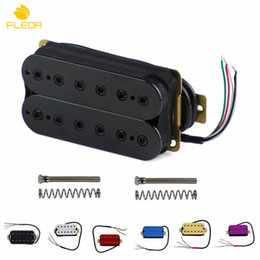 Guitare double cou en Ligne-Vente en gros - FLEOR 1PCS Guitare électrique Double bobine Humbucker Pickup, Bridge ou Neck Pickup Multi Colors