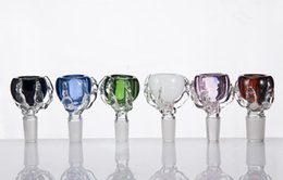 Dragon Claw Bow Glass Bowl Dry Herb holder 14mm & 18mm Male Joint For Glass Bongs Water Pipes