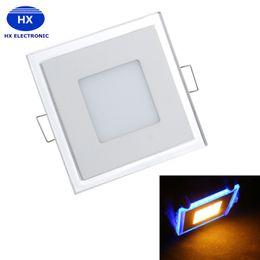 2017 синяя панель Светодиодные 10w 15w 20w привели панели вниз привели светодиодные синие белые утопленный потолочный свет SMD2835 painel огни 3 режима Сменные освещения AC85-265V CE UL синяя панель сделка