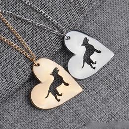 2017 американские собаки 2017 новых американских любовь собака кулон Серебряное ожерелье малых ожерелья подвески женщин Горячие продажи ручной работы животных завод американские собаки продаж
