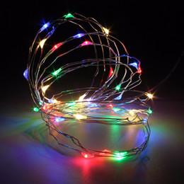 2017 el mejor precio llevó las luces de navidad Al por mayor-mejor precio 4M batería operada 40 LED de alambre de alambre fiesta de Navidad de la boda de hadas al aire libre cuerda de luces decoración DC4.5V el mejor precio llevó las luces de navidad en oferta