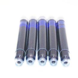 2016 cartuchos de tinta de la fuente al por mayor Pluma de tinta azul avanzada al por mayor 5pcs conveniente para los tipos de pluma. Plumas de relleno de la tinta de la pluma del envío libre, lápices que escriben fuentes económico cartuchos de tinta de la fuente al por mayor
