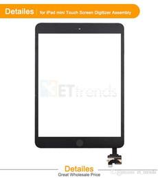 Part entière à vendre-Écran tactile pour iPad Mini / Mini 2 numériseur à panneau tactile Complete Complet Assembley avec pièces IC avec bouton Home Livraison gratuite par DHL