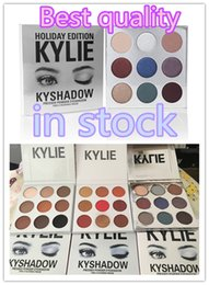 Wholesale 2017 Dropshipping new Holiday edition Kyshadow THE BURGUNDY PALETTE Kylie Cosmetics Jenner eyeshadow Kit Palette Bronze Cosmetic Colors