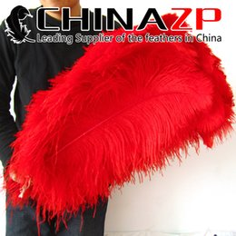 Wholesale CHINAZP Factory Size from inch to inch cm Selected Prime Quality Dyed Red Decoration Ostrich Feathers