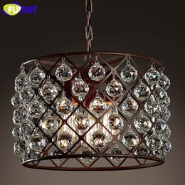 Wholesale Antique Crystal Pendant Lamp Home Decor LOFT Industrial Bar Coffee Store Suspension Lamp Classic Lighting Fixture