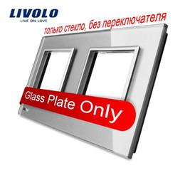 Livolo Luxury Grey Pearl Crystal Glass, 150mm*80mm, EU standard, Double Glass Panel For Wall Switch&Socket,VL-C7-SR SR-15