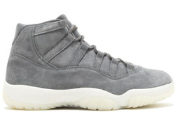 Wholesale Discount xi RETRO PREM GREY SUEDE Basketball Shoes Cheap Wool Sports Shoes Online Store Men Trainers Bred Concord Running Boot Women Size