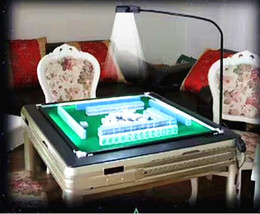 LED lamp Time-limited Plastic Automaic Mahjong Table Mahjong Set Chess Game Tabuleiro De Xadrez 2017 New Design Automatic Mahjong Table