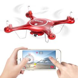Promotion vidéo rc Nouveau Syma X5UW (X5SC X5SW X5HW mise à niveau) FPV WIFI Transmission en temps réel RC Quadcopter 2.4G 4CH drone avec caméra HD