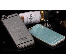 Caso del brillo para el iPhone 7 más 6 6S 5 casos suaves del bolso del teléfono de la cubierta del silicio de Bling TPU para el iPhone 6 6S 7 más oro rosado DHL H091 desde iphone bling la rosa proveedores
