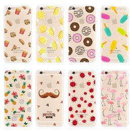 For Apple iphone 6 6S plus iphone 7 plus SE silicone case landscape Plating lemon and flower TPU cell phone cases For iphone 6 6s 7 5 5s