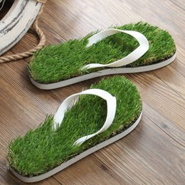 100 Pairs Novelty Lovers Grass Men Flip Flops For Men Summer Beach Flip Flops Festival Barefoot Flat Shoe Out Sandals Slipper Sandalias 2017