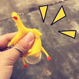 Descuento parodia divertida Novia Parodia Tricky divertidos Gadgets Juguetes Vent pollo huevo entero Colocación gallinas lleno de estrés bola llavero niños juguetes