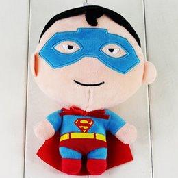 Descuento superhéroes juguetes de peluche Los juguetes rellenos suaves suaves de la felpa de las muñecas de la felpa del superhombre del ccsme los 20cm juegan para el envío libre del regalo de los cabritos
