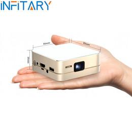 Acheter en ligne Complète android-Mini projecteur de poche de poche LED P96 LED Full HD1080P Affichage Portable Android 4.4 Projecteur HDMI / MHL / WIFI Bluetooth Wifi 2600mAh