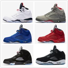 retro 5 white cement red blue suede women men camo basketball shoes Oreo bel air metallic black white grape 5s sports shoes sneakers