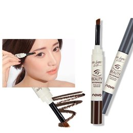 Wholesale Professional Brand novo Colors Eyebrow Cream Mascara Gel Make Up Waterproof Eye Brow Pro Beauty Comestic Pen Enhancer With Brush ZA2363