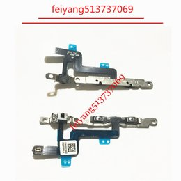 100pcs 100%Original or High quality For iPhone 6 4.7inch Volume Button Connector Flex Cable on off With Metal Plate