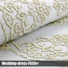 excellent 2016 lace glitter sequin fabrics high quality multi color wedding dress for party
