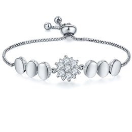 TENGZHEN Wholesale Silver Wedding Bracelets High Quality Cubic Zirconia Charm Tennis Bracelets For Women Adjustable Size