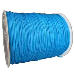 1mm Lake Blue Rattail Satin Braid Nylon Cord+350m Roll Jewelry Accessories Thread Macrame Rope Shamballa Bracelet Beading String