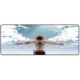 Compra Online Acolchada electrónico-Una pieza de héroe de la alianza LOL dibujos animados mouse pad paquete de correo más super juego mesa mat