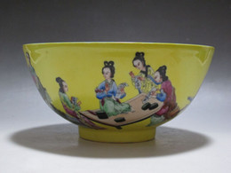 Wholesale China Famille Rose porcelain Bowl Painted Chinese beautiful women Qianlong mark