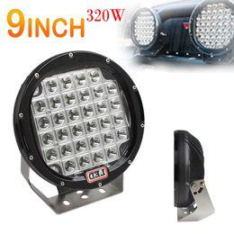UK flood light hidden - 9 inch 320W CREE LED PC Cover Work Driving Lights Spot flood light Offroad HID VS 315W CLT_41J
