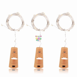 2M 20LED Lamp Cork Shaped Bottle Stopper Light Glass Wine LED Copper Wire String Lights For Xmas Party Wedding Halloween