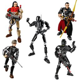 2017 l'action de guerre Star Wars Figurines d'action Rogue One Building Blocks Figurines Chirrut Imwe Baze Malbus Jyn Erso K-2SO Imperial Death Trooper Star Wars Figure abordable l'action de guerre