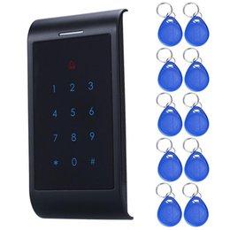 Clés les mots de passe à vendre-Wholesale-X8 Sécurité RFID entrée Door Lock ID mot de passe 500Card NFC clavier 10 touches de sécurité