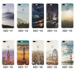 Wholesale For Apple iPhone S Plus iPhone Plus SE Silicone Case Landscape Plating TPU Cell Phone Cases Elizabeth Tower Big Ben Eiffel Cover
