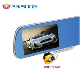 Wholesale dvr rd Phisung Q7 Car Camera DVR inch Android GPS Navigation Dual Lens Rearview Mirror Video Recorder Dash cam RAM GB Free GB card