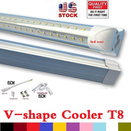 Wholesale UL Certification V Shaped ft ft ft ft Cooler Door Led Tubes T8 Integrated Led Tubes Double Sides SMD2835 Led Lights V