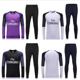 Wholesale Top Thaïlande survêtement de soccer RM manches longues costume de formation pantalons de football vêtements d entraînement vêtements de sport hommes Pull