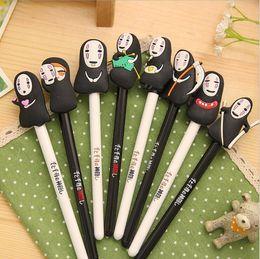 Wholesale Japanese Anime Miyazaki Hayao No Face Creative Gel Pen mm Point Black Ink Roller Ball Pens