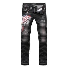 Wholesale NEW Arrive BrandPP Skinny Zipper Fly Mens Jeans Micro elastic Denim Desinger PP117 Slim Top quality holes MENS Jeans