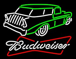 Wholesale Budweiser Chevy Neon Sign Handmade Custom Real Glass Tube Vehicle Store Company Club Pub Hotel Car Garage Display Neon Signs quot X14 quot