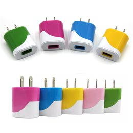 Candy Colorful US EU Plug USB Power Wall Home Travel Charger Adapter For iPhone 6 6Plus 5 5S 4 4S Smartphone