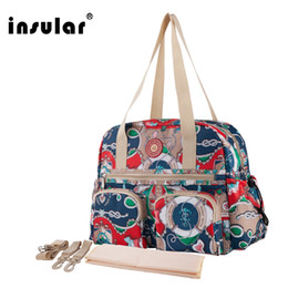 Wholesale Shipping Free Insular Floral Printing Baby Diaper Bag Fashion Multifunctional Mommy Bag Women Tote Bag