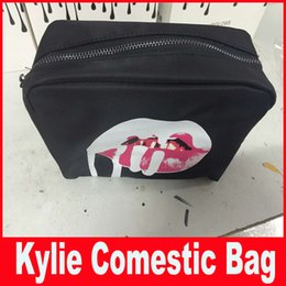 Wholesale Kylie Jenner bags Cosmetics Birthday Bundle Bronze Kyliner Copper Creme Shadow Lip Kit Make up Storage Bag in stock