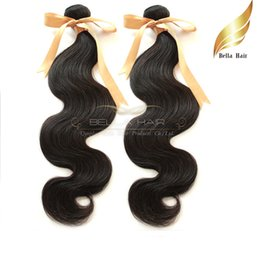 8A High Grade Brazilian Hair Extensions Virgin Human Hair Body Wave Natural Color Double Weft Bellahair