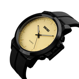 SKmei luxury fashion minimalist men's leisure watch personalized creative quartz wrist watch silicone watch with free delivery