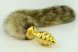Newest chastity fox's tail Anal butt plug sexy BDSM Game bondage sex toys dog play kinky