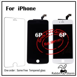 Wholesale For IPhone Plus LCD Display quot Best AAA Touch Screen Digitizer Full Assembly Replacement Parts Black White Free DHL